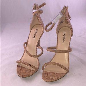 Bebe 8M Ankle-Strap Dress Sandals Women's Shoes